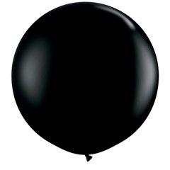 3' Jumbo Latex Balloons, Onyx Black, Qualatex 42857
