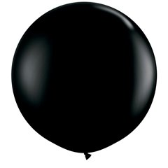 Baloane latex Jumbo 3 ft Onyx Black, Qualatex 42857, 1 buc
