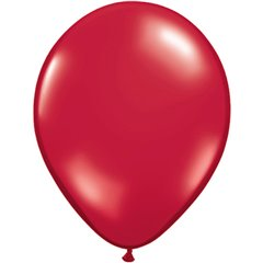 Ruby Red Latex Balloon, 16 inch (41 cm), Qualatex 43899, Pack of 50 pieces