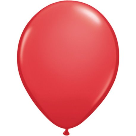 Balon Latex Red, 9 inch (23 cm), Qualatex 43703, set 100 buc