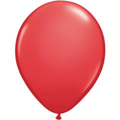 Red Latex Balloon, 11 inch (28 cm), Qualatex 43790
