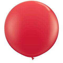 3' Jumbo Latex Balloons, Red, Qualatex 42554