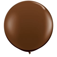 Baloane latex Jumbo 3 ft Chocolate Brown, Qualatex 83660, 1 buc
