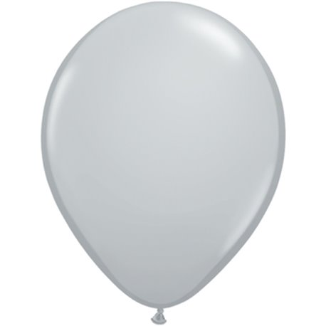 Balon Latex Grey 11 inch (28 cm), Qualatex 13780, set 100 buc