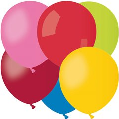 Assorted Latex Balloons , 5 inch (13 cm), Gemar A50.ASS, Pack Of 100 pieces