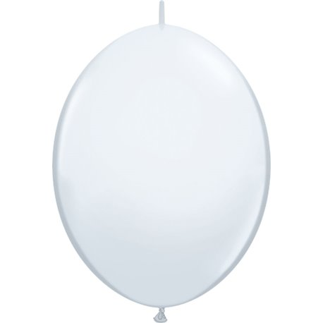 Balon Cony White, 12 inch (38 cm), Qualatex 64151, set 50 buc
