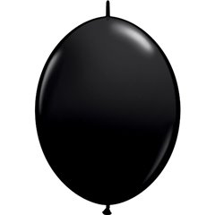 Balon Cony Onyx Black, 12 inch (30 cm), Qualatex 65216, set 50 buc