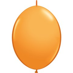 Orange Cony Latex Balloon, 12 inch (30 cm), Qualatex 65221, Pack of 50 pieces