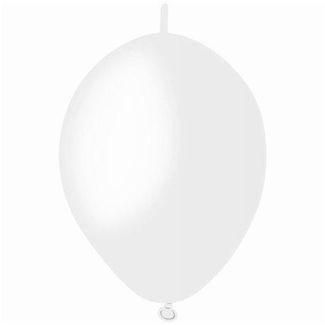 Baloane latex Cony 16 cm, Alb 01, Gemar GL6.01, set 100 buc