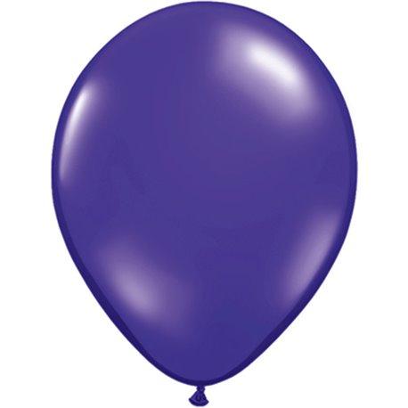 Balon Latex Quartz Purple, 9 inch (23 cm), Qualatex 43702, set 100 buc