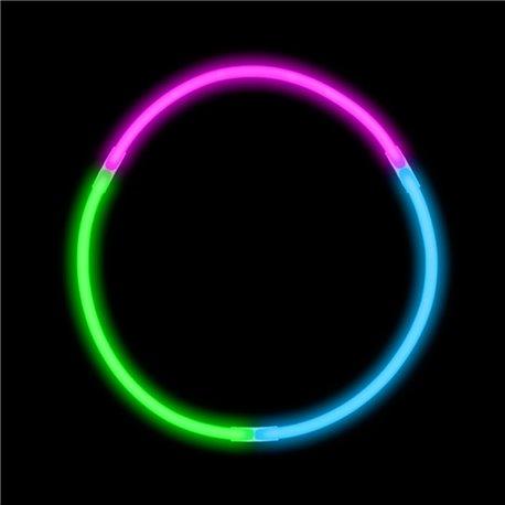 Colier luminos fluorescent tricolor - 20cm, Amscan 311003-99