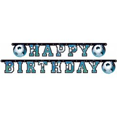 Banner decorativ pentru petrecere - 1.8 m, Soccer Happy Birthday, Amscan 552220, 1 buc