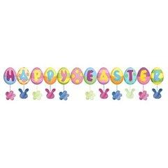 Banner decorativ pentru petrecere 1.6 m, Happy Easter, Amscan 120028, 1 buc