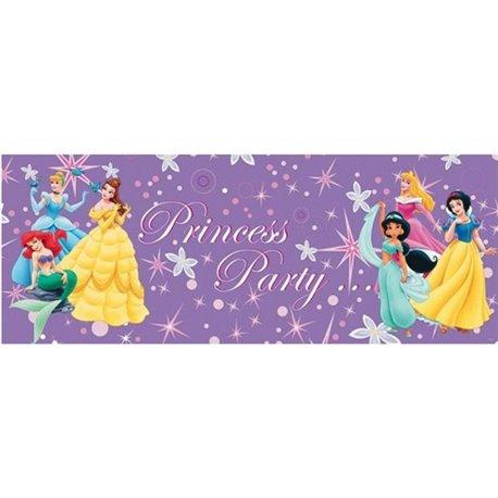 Banner decorativ pentru petrecere cu Printese Disney - 1.3 m, Radar IVC26151, 1 buc