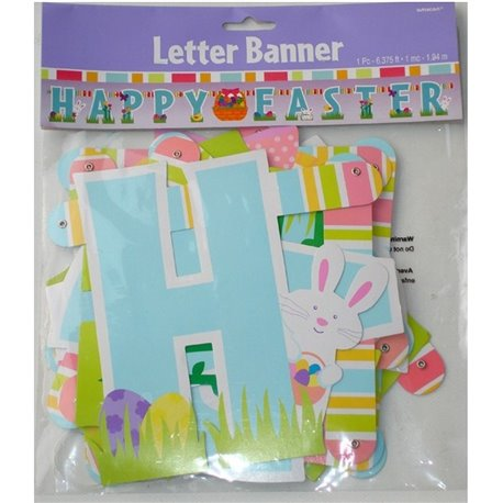Banner decorativ pentru petrecere 1.94 m, Happy Easter, Amscan 129381, 1 buc