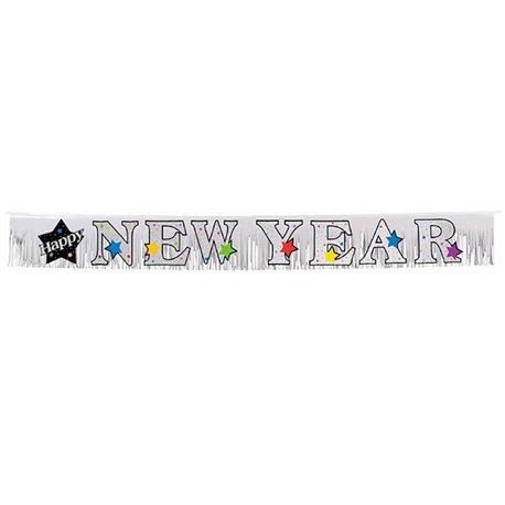 Banner decorativ pentru petrecere 3 m, Happy New Year, Amscan 120024, 1 buc