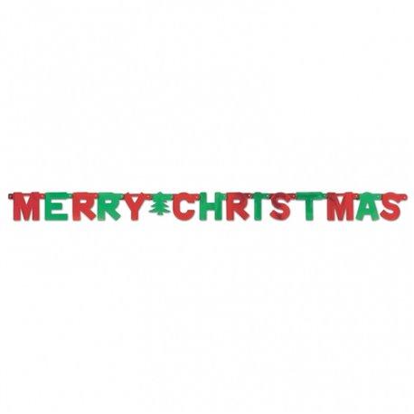 Banner decorativ pentru petrecere 1.5 m, Merry Christmas, Amscan 12940, 1 buc