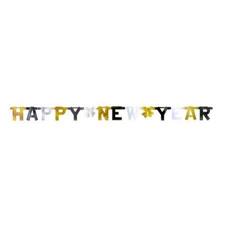 Banner decorativ pentru petrecere 2.1 m, Happy New Year, Amscan 429541, 1 buc