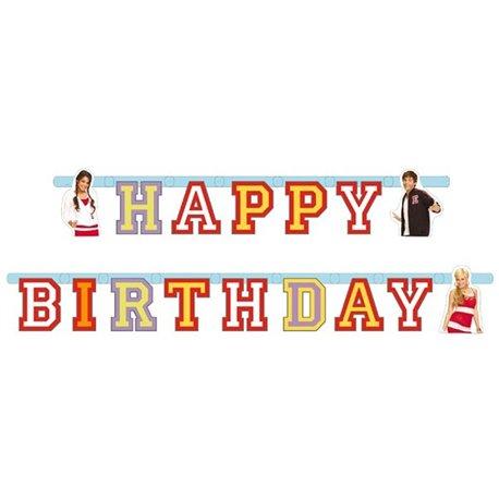 Banner decorativ pentru petrecere - 1.9 m, High School Musical, Amscan 551387, 1 buc