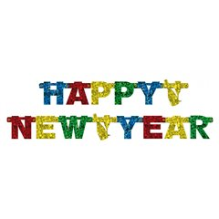 Happy New Year Banner - 1.8 m, Amscan 550176, 1 piece