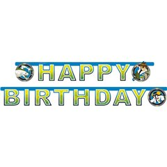 BEN10 Happy Birthday Banner - 1.8 m, Amscan 551548, 1 piece