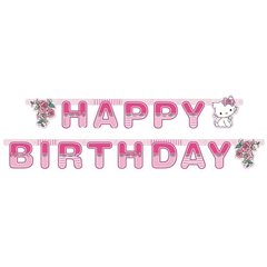 Charmmy Kitty Happy Birthday Banner - 1.8 m, Amscan 551732, 1 piece