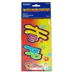 Banner decorativ pentru petrecere - 90 cm, Happy Birthday, Amscan 550186, 1 buc