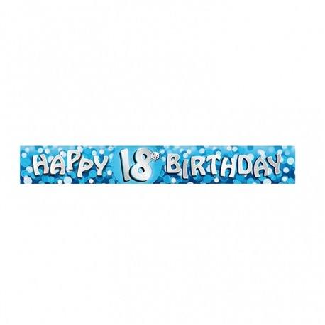 Banner decorativ pentru petrecere majorat - 2.7 m, Happy Birthday 18 ani, Amscan 551785, 1 buc