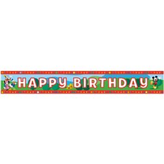 Banner decorativ pentru petrecere 4.65 m, Mickey Mouse Happy Birthday, Amscan 994153, 1 buc