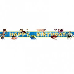 Banner decorativ pentru petrecere 4.65 m, Toy Story Happy Birthday, Amscan 993831, 1 buc