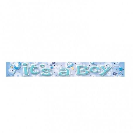 Banner decorativ pentru petrecere 3.63 m, It's a boy, Amscan 992962, 1 buc