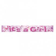 Banner decorativ pentru petrecere 3.63 m, It's a girl, Amscan 992963, 1 buc