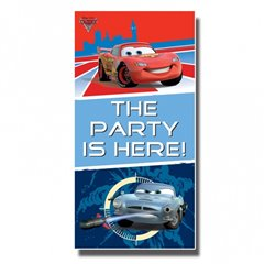 Disney Cars Party Here Door Poster, Amscan 994142, 1 piece