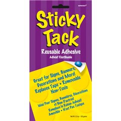 Sticky Tack Adhesive for decorations 150 g, banners and more, Amscan 240555, 1 piece