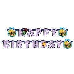 Banner decorativ pentru petrecere - 1.8 m, Happy Birthday cu Albinuta Maya, Amscan 552357, 1 buc