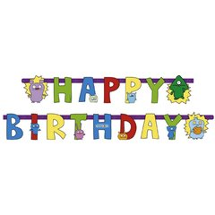 Banner decorativ pentru petrecere - 1.8 m, Ugly Dolls Happy Birthday, Amscan RM552449, 1 buc