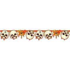 Banner decorativ pentru petrecere Halloween cu Cranii - 1.8 m, Amscan 551810, 1 buc