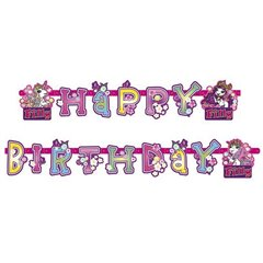 Banner decorativ pentru petrecere - 1.8 m, Happy Birthday cu Filly Fairy, Amscan 552481, 1 buc