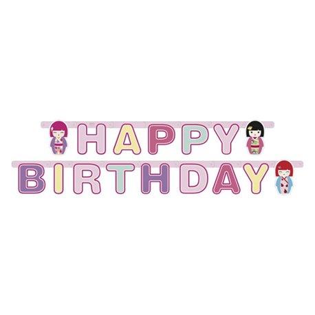 Banner decorativ pentru petrecere - 1.8 m, Happy Birthday Kimmi Junior, Amscan 552209, 1 buc