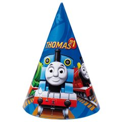 Thomas & Friends Party Hats - 16.5cm, Amscan RM250130, Pack of 6 pieces