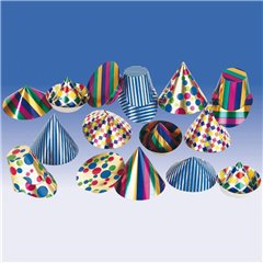 Mini foil hats assorted, Amscan RM3555, 1 piece