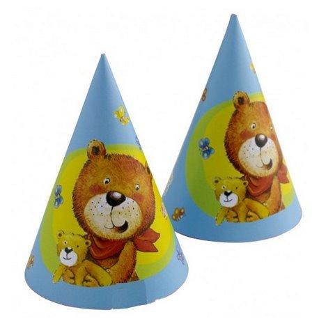 Coif petrecere copii cu Ursuletul Teddy, Amscan RM250083, Set 6 coifuri