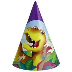 Coif petrecere copii - Dino Party, Amscan RM250111, Set 6 coifuri