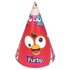 Furby Paper Hats, Amscan RM250606, Pack of 6 pieces