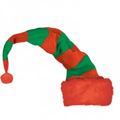 Long Striped Elf Hat (Bend To Shape), Amscan 398819, 1 piece