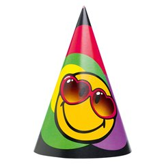 Smiley Express Yourself Paper Hats, Amscan RM250162, Pack of 6 pieces