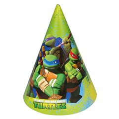 Teenage Mutant Ninja Turtles Paper Hats, Amscan RM250603, Pack of 6 pieces