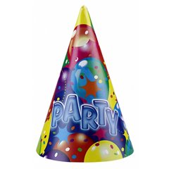 Coif petrecere copii/adulti - New Balloon Party, Amscan RM250611, Set 6 coifuri