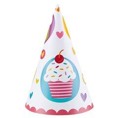 Coifuri petrecere copii - Cupcake, Amscan 997218, Set 6 coifuri