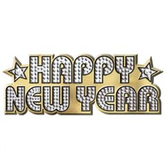 Inel servet pentru Revelion - Happy New Year, Amscan 399805, 1 buc